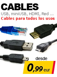 Cables USB Red HDMI Sata economicos