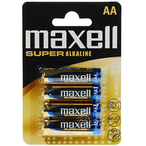 Maxell Pilas Alcalinas AAA PACK de 4 uds