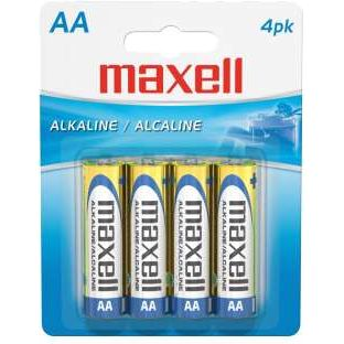 Maxell Pilas Alcalinas AA PACK de 4 uds