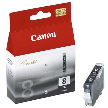 Canon CLI-8BK Negro Original CLI8BK 0620B001 IP4200 IP6700D MP600 MX850