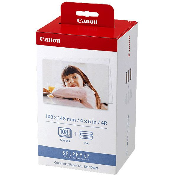 Canon KP-108IN Tinta Color/ Papel Set (6 x 4) - 108 Sheets