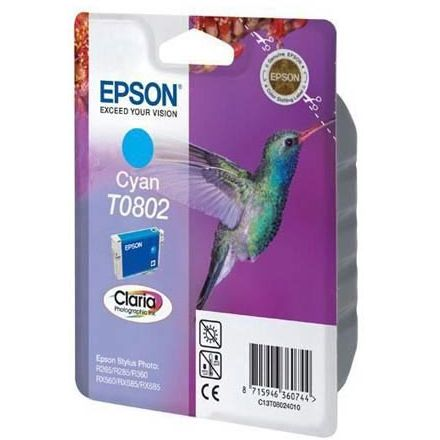 Epson T0802 Cyan Original STYLUS PHOTO R265 R360 RX560 C13T080240