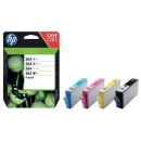 PACK 4 Colores HP 364 Negro + Cian + Magenta + Amarillo Original N9J73AE