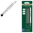 PACK 2 Recambios Roller Monteverde Compatible con Montblanc. Negro, Punta Fina