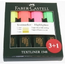 PACK 4 Marcadores fluorescentes Faber Castell Textliner 4 Colores