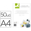 CAJA 50 TRANSPARENCIAS DIN A4 PARA LASER COLOR Q-CONNECT KF00142