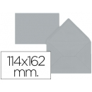 PACK 15 Sobres C6 Gris 114x162 mm 80gr 54489