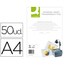 CAJA 50 TRANSPARENCIAS DIN A4 PARA INK-KET Q-CONNECT KF26074