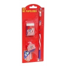 Set Papeleria 3 piezas Atletico de Madrid. GS-35-ATL