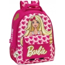 Mochila BARBIE grande adaptable a carro, 32 x 43 x 16 cm (Safta 611610704)