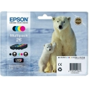PACK 4 Colores Epson 26 Original T2616 XP600 XP605 XP700 XP800 C13T26164010