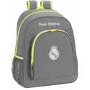 Mochila Real Madrid, Casual gris, adaptable a carro, 32 x 42 cm. Safta