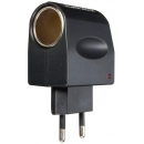 Adaptador mechero de coche a enchufe de pared. 12V a 500mA (max)