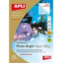 PAPEL PHOTO APLI A4 Bright Water Resistant 265g 20 Hojas. Apli 10123