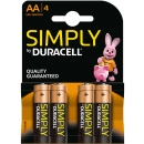 Duracell 4 Pilas AA LR6 Simply MN1500B4S