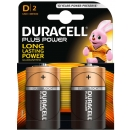 Duracell PACK 2 Pilas Alcalinas tipo D LR20 Plus Power MN1300B2