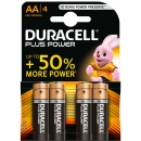 Duracell 4 Pilas AA LR6 Plus Power MN1500B4