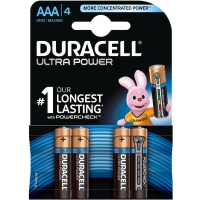 Duracell PACK 4 Pilas AAA LR03 Ultra Power Alcalinas MX2400B4