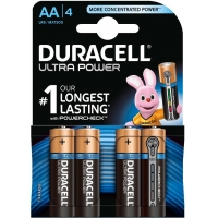 Duracell PACK 4 Pilas AA LR6 Ultra Power Alcalinas MX1500B4