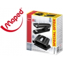 Grapadora + Taladrador perforador Maped Essentials. Grapas 24/6 26/6 Taladro