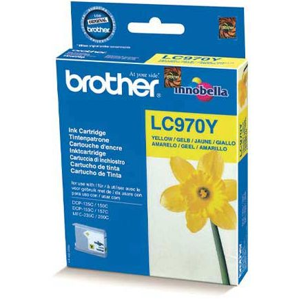 Brother LC970Y Amarillo Tinta Original LC-970Y