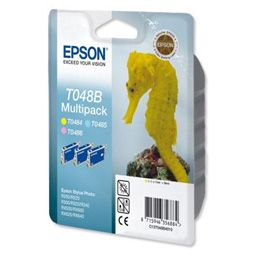 Epson T048B (T048B40) Original Color Triple Pack (Light CyanLigh