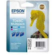 Epson T048C (T048C40) Original Negro y Color Triple Pack (NegroC