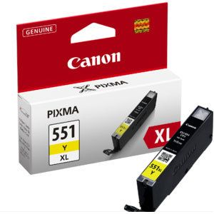 Canon CLI-551 XL Amarillo ALTA CAPACIDAD Original 6446B001 MG5450 MG6350 IP7250