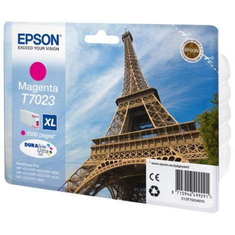 Epson T7023 XL Original Magenta WorkForce Pro WP-4000 WP-4500 C13T70234010