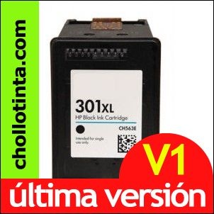 HP 301XL v3 Negro NUEVA VERSION Remanufacturado CH561EE CH563EE