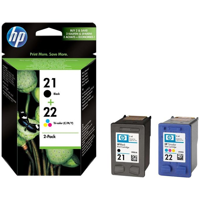 PACK HP 21 + HP 22 ORIGINAL C9351AE C9352AE SD367AE