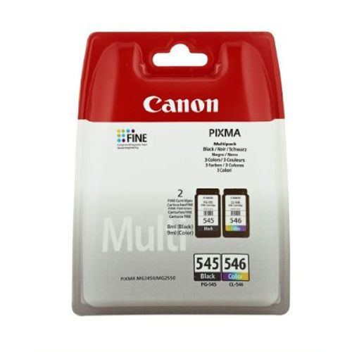 PACK Canon PG-545 Negro + CL-546 Color Original MG2550 MG2450 8287B006  PG545 CL546