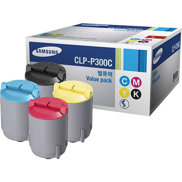 PACK 4 Colores CLP-P300C Rainbow Kit Samsung CLP-300 Original Toner