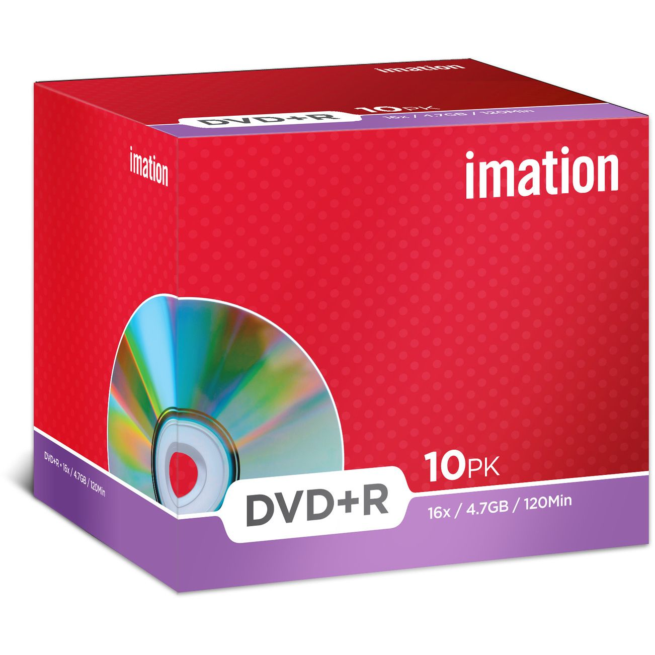 DVD+R IMATION 4.7GB 16X PACK 10ud en CAJA Individual