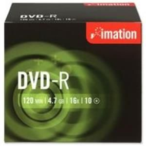 DVD-R IMATION 4.7GB 16X PACK 10ud en CAJA Individual