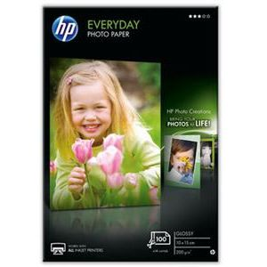 HP Papel fotográfico Brillante HP Everyday 200gr/m2 - 100 Hojas/10 x 15 cm CR757A