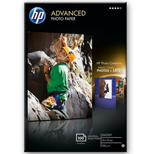 HP Papel fotográfico Brillante Advanced 250gr/m2 - 100 hojas/10 x 15 cm sin bordes Q8692A