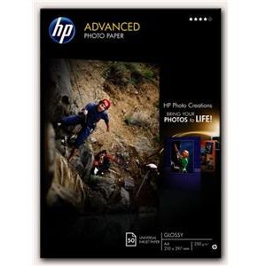 HP Papel fotográfico Satinado Advanced 250g/m2 Formato A4 - 50 Hojas 210 x 297 mm Q8698A