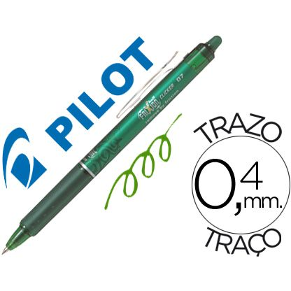 Boligrafo borrable Pilot Frixion Clicker retractil Verde