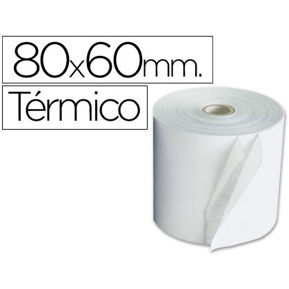 Rollo de papel Termico 80x60mm