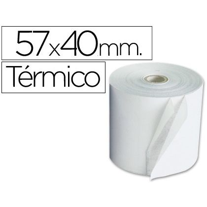 Rollo de papel Termico 57x40mm