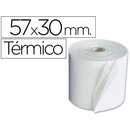 Rollo de papel Termico 57x30mm