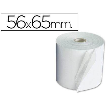 Rollo de papel Electra 56,5 x 65 mm