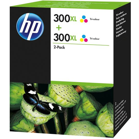PACK COLOR 2 unidades HP 300XL TriColor Original D8J44AE ALTA CAPACIDAD