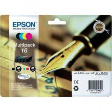 PACK 4 Colores Epson 16 Original T1626 C13T16264010