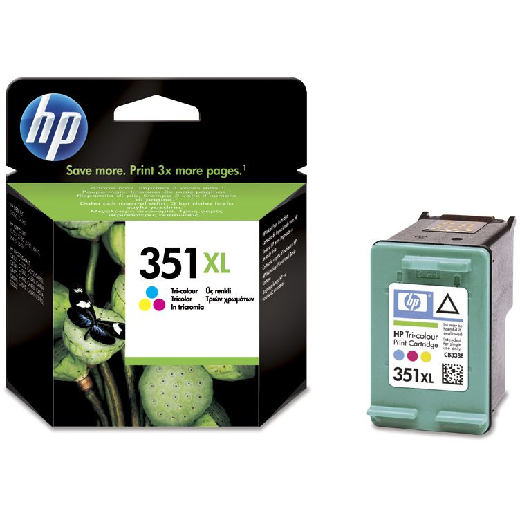 HP 351XL TriColor Original CB338EE con Vivera ink