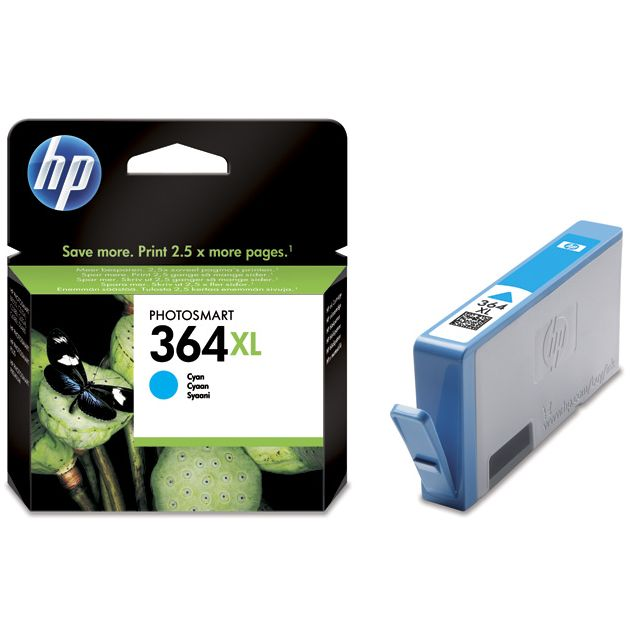 HP 364XL Cian Original con Vivera Ink CB323EE