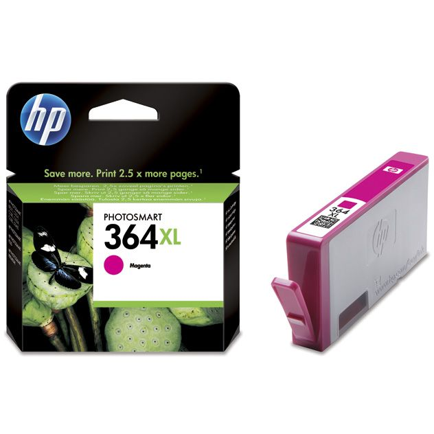 HP 364XL Magenta Original con Vivera Ink CB324EE